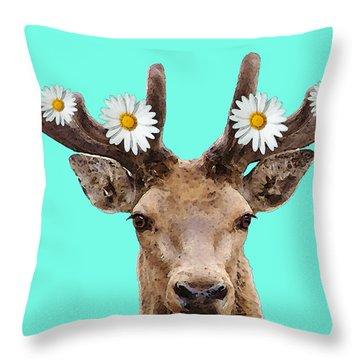Buck Deer Art - Dont Shoot Throw Pillow