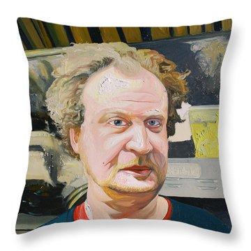 Buck Throw Pillow by Joseph Demaree