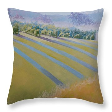Buck Mountain Vineyards No.2 Throw Pillow by Catherine Twomey