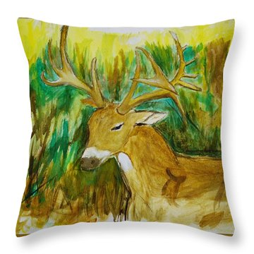 Buck Of A Lifetime Throw Pillow
