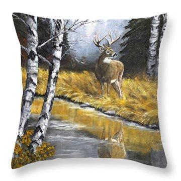 Buck Reflection Throw Pillow