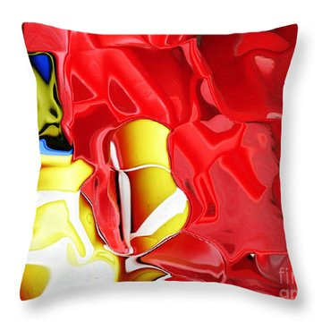 Bucket And Spade Throw Pillow by Carol Lynch