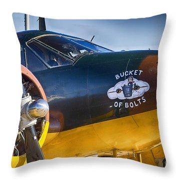 Bucket Of Bolts Throw Pillow