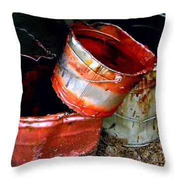 Buckets Throw Pillow by David Gilbert