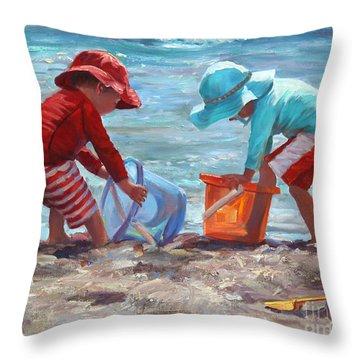 Buckets Of Fun Throw Pillow