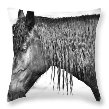 Bucking Horse Throw Pillow