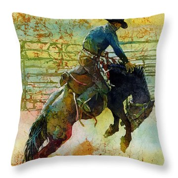 Bucking Rhythm Throw Pillow