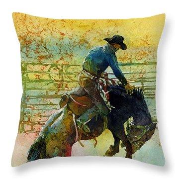 Bucking Rhythm Throw Pillow