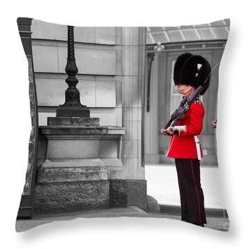 Buckingham Palace Guards Throw Pillow by Matt Malloy