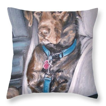 Buckle Up. Throw Pillow