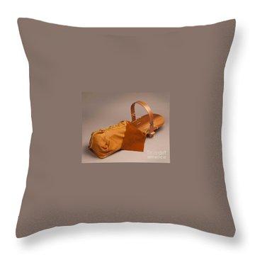 Buckskin Cradleboard Throw Pillow