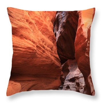 Buckskin Gulch Narrows Throw Pillow