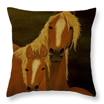 Buckskins Throw Pillow