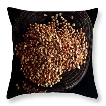 Buckwheat Grouts Throw Pillow