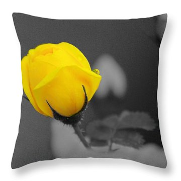 Bud - A Splash Of Yellow Throw Pillow by John  Greaves
