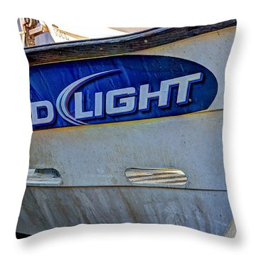 Bud Light Dory Boat Throw Pillow by Heidi Smith