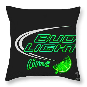 Bud Light Lime 2 Throw Pillow