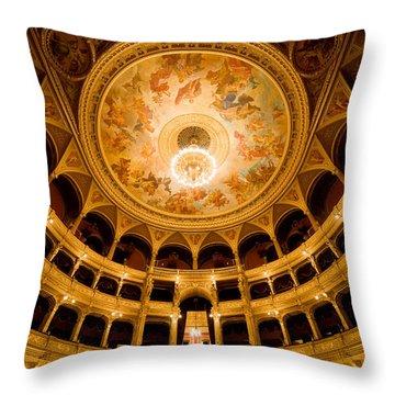 Budapest Opera House Auditorium Throw Pillow