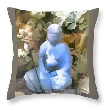 Buddha 3 Throw Pillow by Pamela Cooper