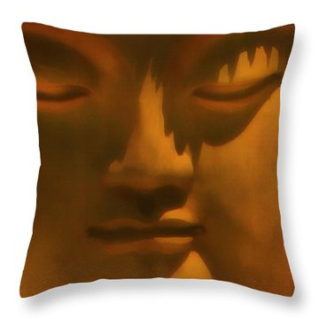 Buddha At Rest Throw Pillow by Kandy Hurley