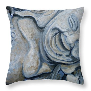 Buddha Bella Throw Pillow by Tom Roderick