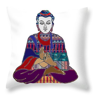 Buddha In Meditation Buddhism Master Teacher Spiritual Guru By Navinjoshi At Fineartamerica.com Throw Pillow
