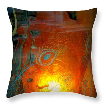 Buddha Head Throw Pillow