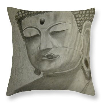 Buddha Throw Pillow by Irving Starr
