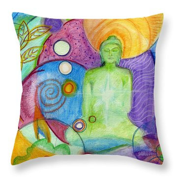Buddha Of Infinite Possibilities Throw Pillow