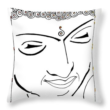 Buddha Xiv Throw Pillow