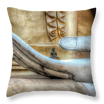 Buddha's Hand Throw Pillow by Adrian Evans