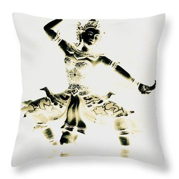 Buddhist Dancer Throw Pillow