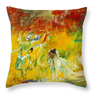 Buddhist Hell Throw Pillow by RicardMN Photography