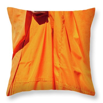 Buddhist Monk 02 Throw Pillow