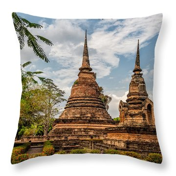 Buddhist Park Throw Pillow by Adrian Evans