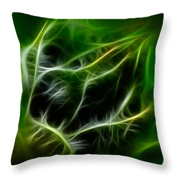 Throw Pillow featuring the painting Budding Beauty by Omaste Witkowski