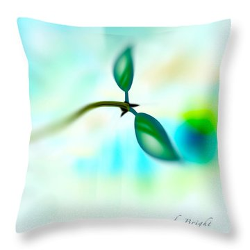 Budding Throw Pillow by Frank Bright