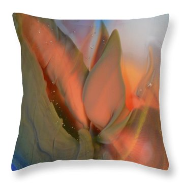 Budding From The Depths Throw Pillow