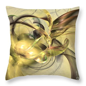 Budding Fruit - Abstract Art Throw Pillow