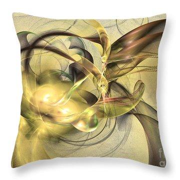 Budding Fruit - Abstract Art Throw Pillow