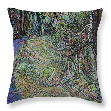 Budding Trees Throw Pillow
