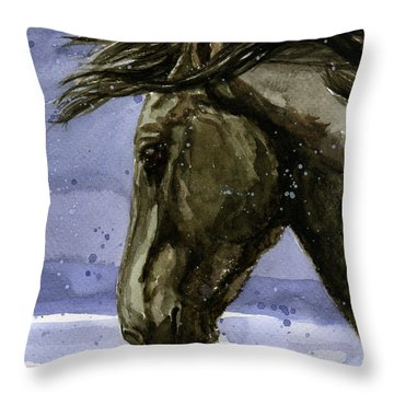Buddy Bachelor Stallion Of Sand Wash Basin Throw Pillow