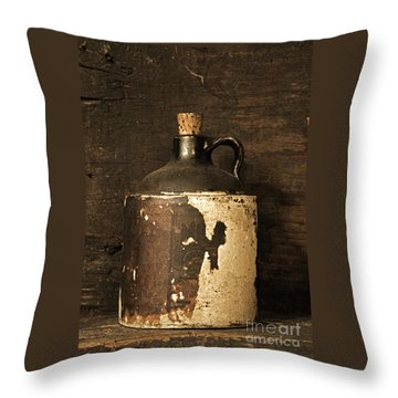 Buddy Bear Moonshine Jug Throw Pillow