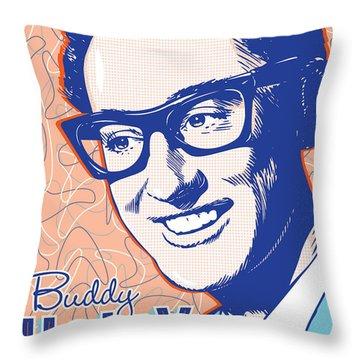 Buddy Holly Pop Art Throw Pillow