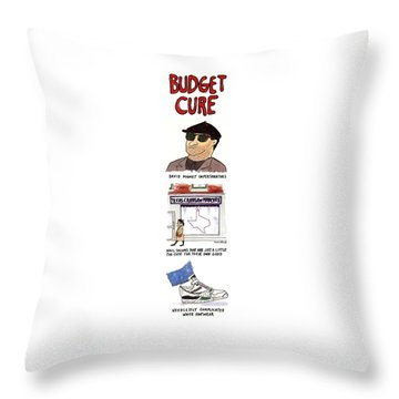 Budget Cure Throw Pillow