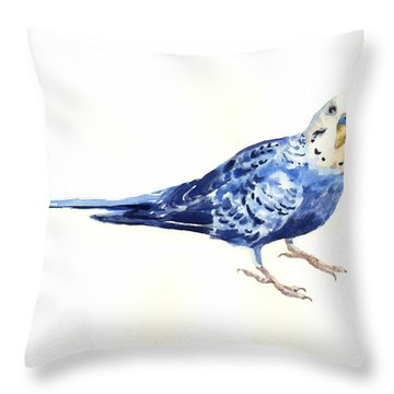 Budgie Bow Throw Pillow