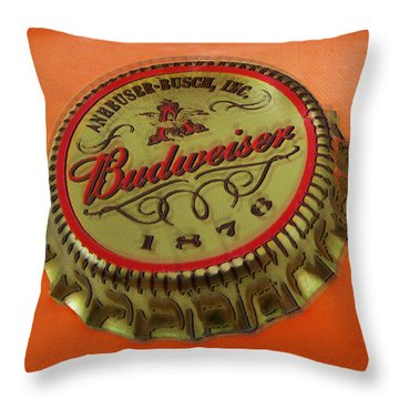 Budweiser Cap Throw Pillow