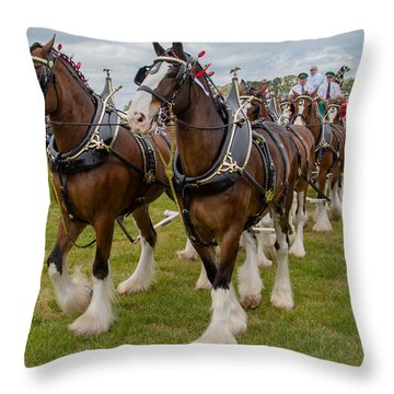 Budweiser Clydesdales Throw Pillow