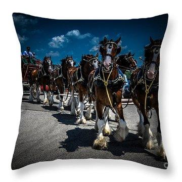 Budweiser Clydesdales Throw Pillow