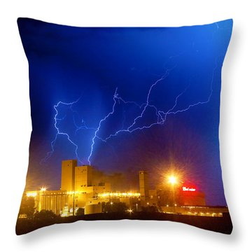 Budweiser Power Throw Pillow by James BO  Insogna